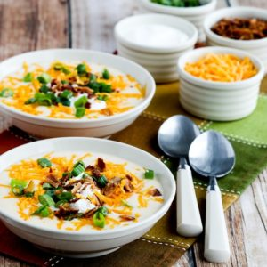 Low-Carb Loaded Cauliflower Soup